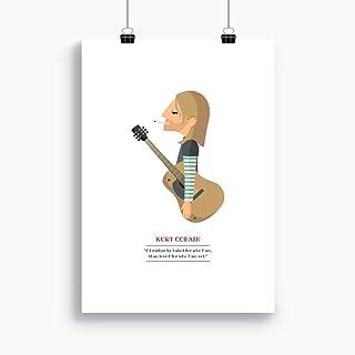 "Stampa"" Kurt Cobain"". Disponibile in due misure: A4 / A3. Citazione inclusa."