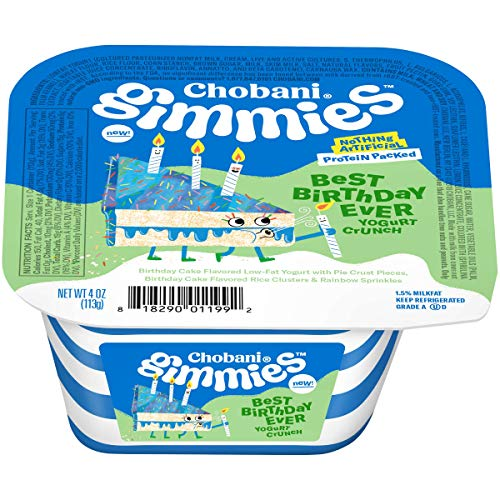 Chobani Gimmies Protein Packed Yogurt Crunch 4 ounce (Pack of 12) (Best Birthday Ever)