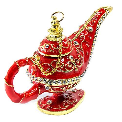 La Lampara Maravillosa de Aladdin magica, Aladino arabe mesa casa infantil habitacion hogar marroqui vintage decoracion lamp, Dulce Aladin genio de la lampara para infantiles, Roja Genie Lámpara