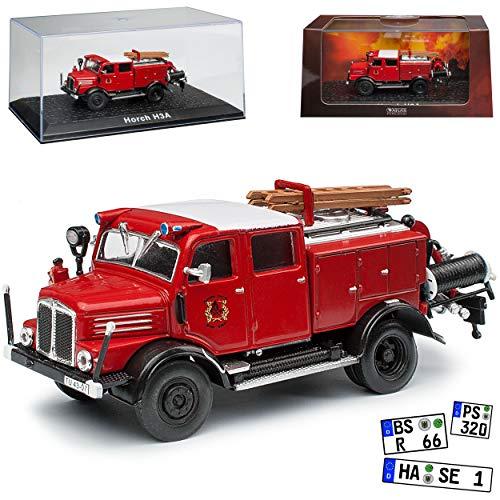 alles-meine.de GmbH Horch H3A TLF 15 Feuerwehr 1950-1958 1/72 Atlas Modell Auto