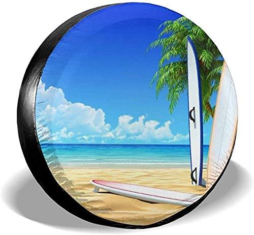 PageHar Cubiertas de poliéster para Ruedas, Cubierta para Llantas de Repuesto, Protectores de Llantas Resistentes a la Intemperie, Cubierta para Llantas de Bikini para Tablas de Surf de Playa