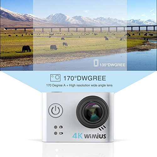 WiMiUS Action Camera 4K HD Sports Camcorder 40M Underwater Cameras WiFi Waterproof Cam 170° Wide Angle Sony Sensor 2