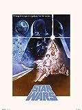 ERIK - Lámina decorativa La Guerra de las Galaxias Cartel, Star Wars (30x40 cm)