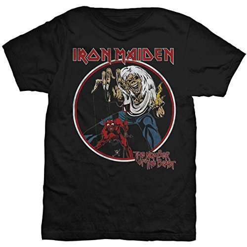 T-Shirt (Unisex S) Number of The Beast Black [Import]