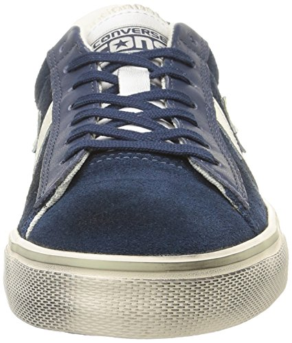 Converse Pro Leather Vulc Ox Suede/LTH - para Hombre, Dress Blue/Off White, Talla 36