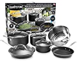 GRANITESTONE 2228 10-Piece Nonstick Cookware Set, Scratch-Resistant, Granite-coated Anodized...