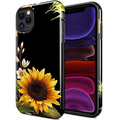 DorisMax iPhone 11 Pro Max Case,[Pass 15ft. Drop Tested] Shockproof Cover with Fashionable Designs for Girls Women,Protective Phone Case for Apple iPhone 11 Pro Max 6.5' Sunflowers