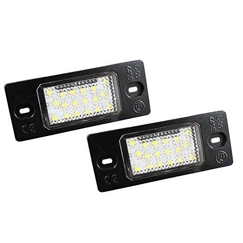 GZLMMY 2 pcs 18 LED Nombre lumière de plaque d'immatriculation lampe pour Golf 5 Touareg Triple CAN-BUS Auto Queue Source d'éclairage