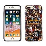 iPhone 8 Plus 7 Plus 6S Plus Dual Slim Case CASEVEREST 3D Print Cover iPhone 8 Plus Friends TV Show Icons Characters