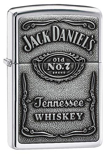 Zippo Zippo 1310011 Feuerzeug Jack Daniel's Label Chrome High Polish Chrome