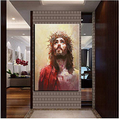Leinwand Malerei Home Art Christian Jesus Poster und Print Wall Art Bild Home Decor-50x70cmx1pcs-No Frame
