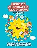 Libro de actividades educativas ¡y divertidas!: Aprende a escribir letras, números y a trazar líneas. Libro para aprender a escribir. Primeros ... unir puntos. Cuaderno actividades infantiles