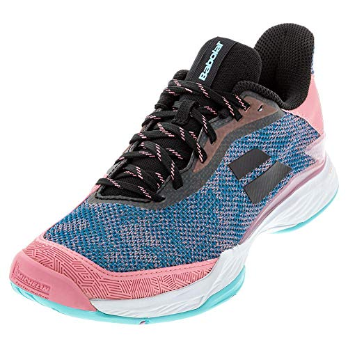 Babolat Women`s Jet Tere All Court Tennis Shoes Blue and Pink (6)