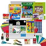 Pack Manualidades - PS-BASICS CRAFTS (PLUS) - Kit de material para Manualidades: Cartulinas, Goma EVA, Pegamento, Cola, Tijeras. Productos de Papeleria al Mejor Precio