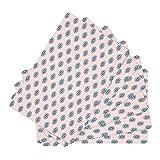 FFLSDR Manteles Individuales de Cuero Rollos de Sushi Abstractos Tapetes de Mesa Juego de 6 tapetes Individuales Antideslizantes Resistentes al Calor Impermeables 30X45CM