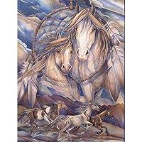 大人のためのスクエアフルダイヤモンドアート、馬のダイヤモンド刺繡5DDiyフルスクエアダイヤモンドモザイクダイヤモンドペイントダイモンド絵画12x16インチ/ 30x40cm
