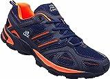 Herren Sportschuhe Sneaker Turnschuhe Schuhe Übergröße gr.47-49 Art.-Nr.1326 Navy-orange (48)