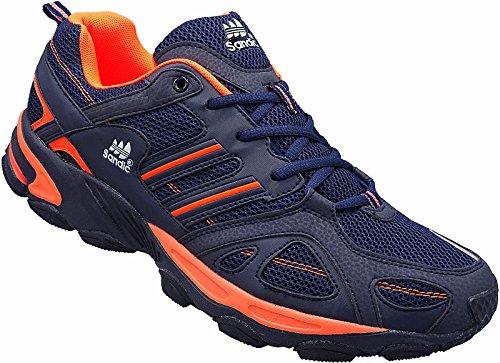 Herren Sportschuhe Sneaker Turnschuhe Schuhe Übergröße gr.47-49 Art.-Nr.1326 Navy-orange (47)