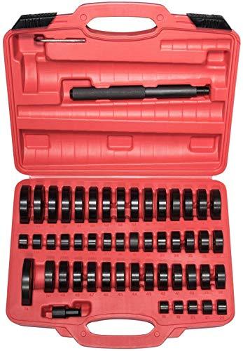 52-in-1 Custom Bushing Driver Set | Getrieberadachsenlager Race und Seal Installer, Entferner, Presswerkzeug Kit