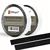 41 Feet Sticky Back Hook and Loop Fasteners by TOPtoper Self Adhesive Hook and Loop Tape Roll 0.8 Inch Wide (Black 0.8Inch)