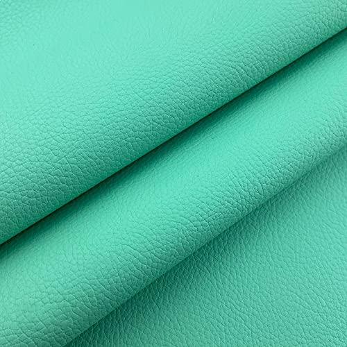 ZSYGFS Tela De Cuero Sintético De Polipiel 160 Cm De Ancho Vendido por Metro para Muebles Sofás Sillas Manualidades(Color:Rosa Verde)