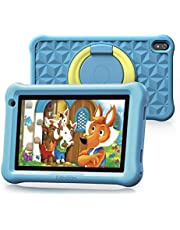 $76 » Arknikko SophPad X11 Kids Tablet 7 inch, Android 10 Quad-Core, 2 GB RAM 32 GB Storage, Kidoz Pre-Installed & Parent Control, IPS HD Display, WiFi Tablet, Dual Cameras, Kid-Proof Case (Light Blue)