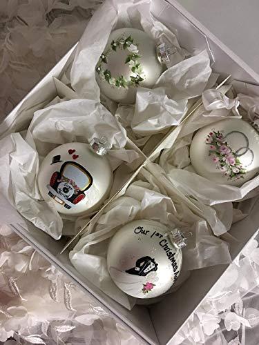Bridal Set of 4 Gift boxed Elegant Wedding Keepsake
