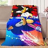 XavieraDoherty Sonic The Hedgehog, Super Sonic (14) Manta de seguridad de 152,4 x 160 cm para interiores y exteriores, adecuada para todas las estaciones