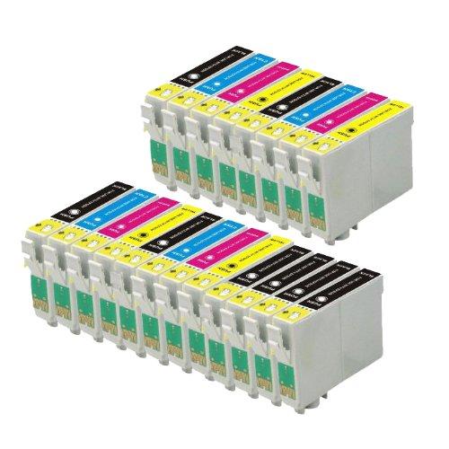 20Cartuchos de tinta (3juegos + 2Negro) T0615–T0611T0612T0613T0614para Epson Stylus D68D88DX3800DX3850DX4200DX4800DX4850impresoras