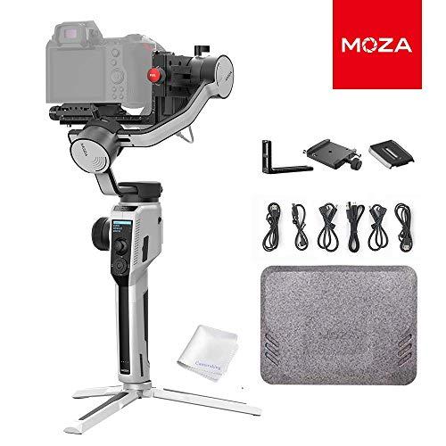 MOZA Aircross 2 Stabilisateur de cardan 3 Axes pour appareils Photo compacts, Compatible avec Les caméras 4K BMPCC, Canon EOS R, Sony Série A, Charge de 3,2 kg, Poids de cardan 950 g (Blanc)