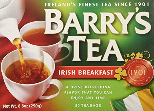 Barry#039s Tea Irish Breakfast Teabags 80  Pack of 2