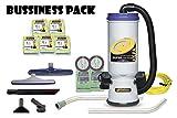 ProTeam Super CoachVac HEPA Commercial Backpack Vacuum w/Versatile Tool Kit & 2 pc Wand, 10 Quart 50 Bags Extra