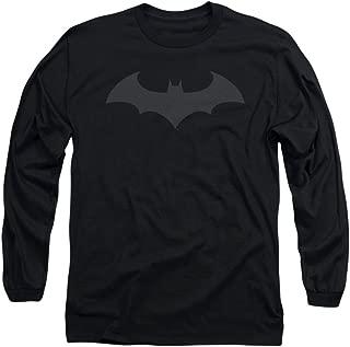 Batman - Mens Hush Logo Long Sleeve Shirt In Black