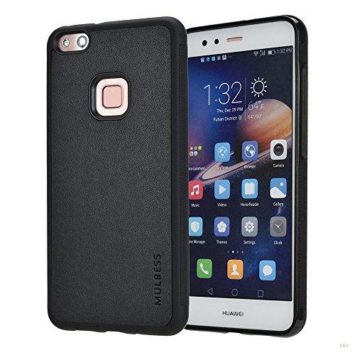 MulbessShockproof Soft TPU Tasche Silikon Hülle Schutzhülle Handytasche für Huawei P10 Lite hülle,Schwarz