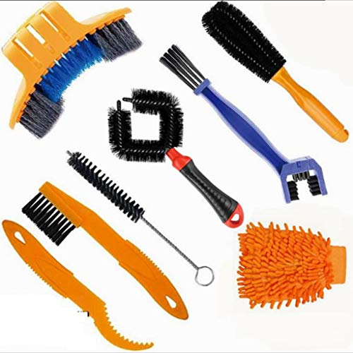 Bike Cleaning Kit 8 Pack Bike Cleaning Kit Park Tool wth Bike Chain Cleaner Brush for Professional Bicycle Chain,Crank,Tire,Sprocket Cycling,B