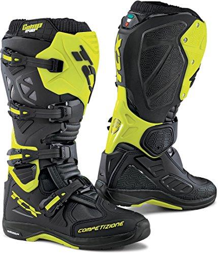 9662 - TCX Comp Evo 2 Michelin Motocross Boots 45 Black Yellow Fluo (UK 10)