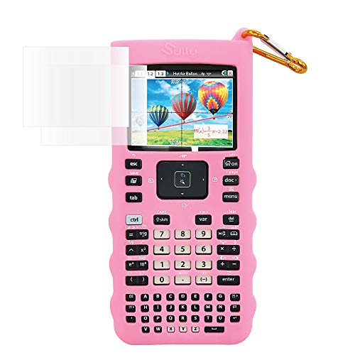 Sully Silicone Skin for Ti Nspire CX/CX CAS Handheld (Pink) w/Screen Protector - Silicon Cover Case for Ti-Nspire CX Hand held Graphing Calculator - Protective & Anti-Scretch Skins & Screen Covers