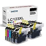 SMARTOMI LC123 LC123XL - Cartuchos de Tinta compatibles con DCP-J132W J152W J552W J752W MFC-J870DW J650DW J470DW J4510DW J4610DW J4710DW J6920DW J6720DW 10 Pack de 10 Unidades (4BK 2C 2M 2Y)