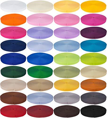 e-kurzwaren Correa de polipropileno, 2m o 5m de largo, 32 colores, ancho: 20mm, 25mm, 30mm, 40mm o 50mm (174 púrpura)