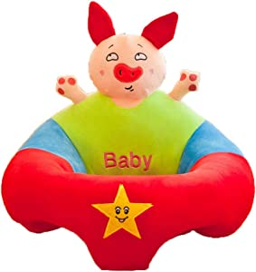 Baby Support Soft Chair Baby Sitting Chair Infant Soft Support Seat Sofa Toddler Learning Sit Chair Cushion Cartoon Animal Shaped Seat Dining Chair Kids Plush Pillow Toys