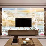 TV fondo pared estilo europeo mármol textura paisaje pintura fondo nube canción sofá fondo pared papel mural papel pintado a papel pintado pared dormitorio autoadhesivo-400cm×280cm