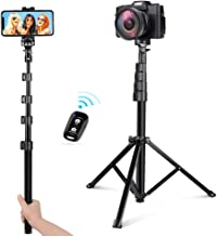 UBeesize 54-inch Selfie Stick Tripod, Detachable and Extendable Phone Tripod for Cell..