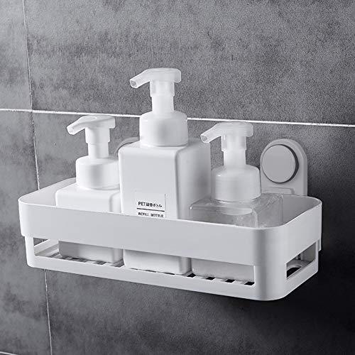 Morcare - Toallero con ventosa de aspiración para barra de ducha, extraíble, barra de ducha adhesiva para puerta de ducha (estante de almacenamiento de baño)