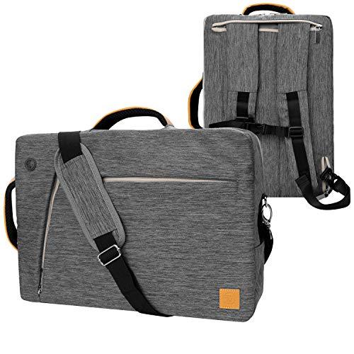 VanGoddy Grey Convertible Laptop Bag 17.3 inch Fit for Acer Aspire V Nitro 17, E 17, E1 17, 5 17, 7 17, ES 17, Predator Helios 300, Helios 500, TravelMate P2 17, Triton 900 2-in-1, V Nitro Black 17