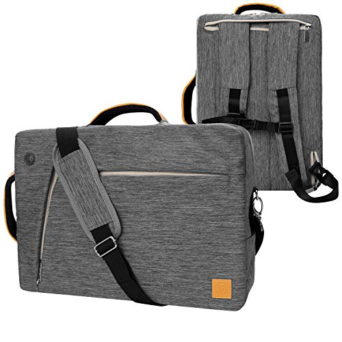VanGoddy Gray 17.3 inch Convertible Laptop Backpack Fit for Dell G3 G7 17 Gaming, Inspiron 17 5000 7000 Series, Precision, Alienware m17