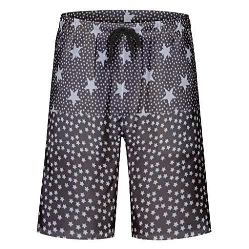Caixiabeauty zwembroek voor heren, vrijetijdsbroek, zomer, strandmode, sneldrogend, zwembroek, zwempak, shorts met elastisch trekkoord, zakken, zonder mesh-voering