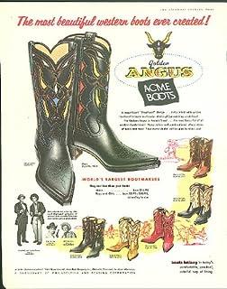 Jack Kelly James Garner of Maverick for Golden Angus Acme Boots ad 1960