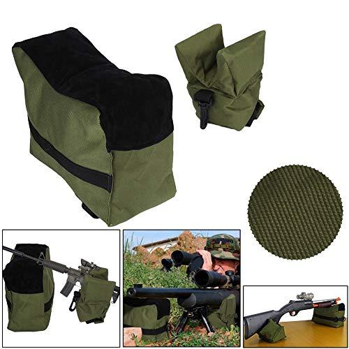 Cocoarm Gewehrauflage Sandsack Schaftauflage Set Hochsitz Combo Shooting Bag Schiesskissen Set Gefüllt Balkenauflage für Schießen Jagd BL