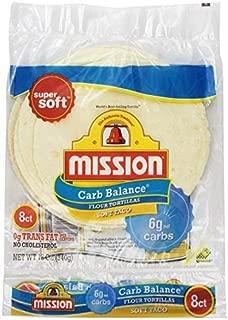 Mission Low Carb Soft Taco Flour Tortilla's 12oz./8 Ct. (Pack of 6) by Mission Ltd