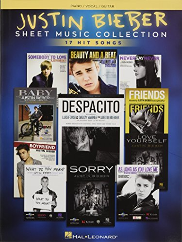 Justin Biebier: Sheet Music Collection -For Piano, Voice & Guitar- (Book): Songbook für Klavier, Gesang, Gitarre: 17 Hit Songs